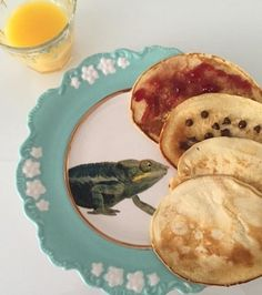 Nature Table Dessert Plate, Chameleon  #anthrofave Instagrammed by: @ archibald3petitspoints
