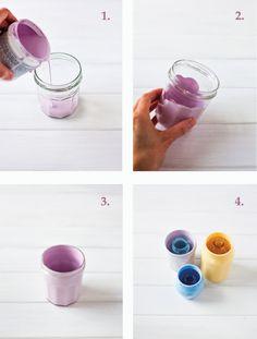 DIY: chalky pastel jam jars