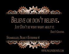 Emily believed. :-)