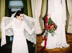 Long Sleeve Lace Wedding Dress - A Breathtaking Colonial Wedding Styled Shoot in Lima