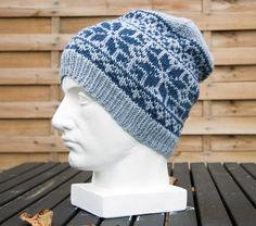 Fair Isle Knit Hat, Large Slouchy Beanie, Chunky Alpaca Yarn Cap, Ready to Ship Fair Isle Knitting, Hand Knitting, Knitting Patterns, Red Crafts, Etsy Shop Names, Aran Weight Yarn, Beanie Pattern, Alpaca Wool, As You Like