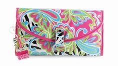 """Mud Pie Wild Paisley Blue, Green, Pink & Black Hanging Travel Jewelry Cosmetic Case and Toiletry Bag by Mud Pie. $24.99. Hanging Bag Measures 6.75"""" x 11.5"""" x 21""""; Snap loop is perfect for hanging on a towel bar. Mud Pie 2 Piece Hanging Travel Bag is Perfect for Cosmetics, Jewelry or Toiletries. Large Blue Green, Pink & Black Paisley Print; Laminated and Trendy Hanging Canvas Cosmetic Case. Unique separate snap on pouch meets airline requirements for carry-on liqui..."""