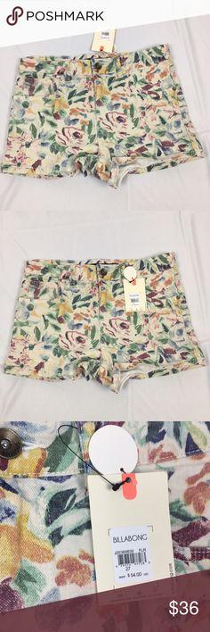 🎉sale🎉 NWT Billabong Floral Denim Shorts Brand new floral Denim Billabong shorts. Perfect condition. Size 27. 30 inch waist. ❗️❗️PRICE FIRM❗️❗️ Billabong Shorts Jean Shorts