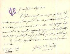 Verdi, Giuseppina - Autograph Note Signed 1897