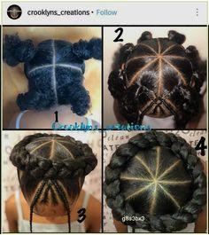Lil Girl Hairstyles, Black Kids Hairstyles, Cute Braided Hairstyles, Easy Hairstyles For Long Hair, Hairstyles For School, Sweet Hairstyles, Protective Hairstyles, Little Girl Braids, Braids For Kids