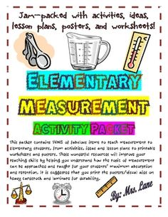 Elementary Measurement Activity Packet!