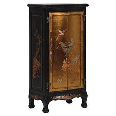 Chinese Style Cabinet with Gold Detail | ACHICA