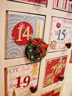 Advent calendar.  Original from Target, with spruced up doors. :)
