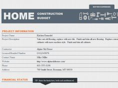Home Construction Budget Template can help you plan your construction expense and resources and channel them towards the right direction. If you do all the buying and spending without any planning or tracking, you are sure to spend on unnecessary element and activities.