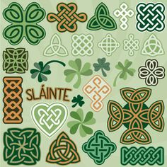 Celtic Knot and Clovers kit from #svgcuts