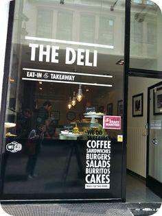 Le jardin de juliette: the deli interior - l in 2019 кафе, д Shop Interior Design, Cafe Design, Store Design, Cafe Window, Window Signage, Modern Bakery, Deli Shop, Store Window Displays, Coffee Places