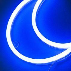 Wall Lamp Moon Neon Blue