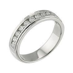 Platinum half carat diamond ring - Product number 6270069