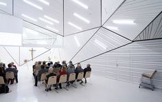 This is not an art gallery. It's not the offices of an architecture firm either. It's a church in Austria.