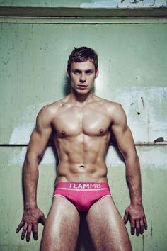 Brunette gay hot male underwear img