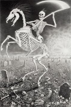 Death Tarot Card by Laurie Lipton