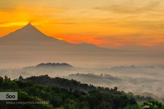 fog in mount Merapi and Borobudur temple by FranshendrikTambunan. Please Like http://fb.me/go4photos and Follow @go4fotos Thank You. :-)