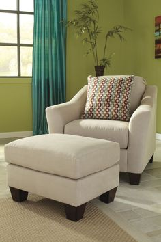 Hannin - Stone Fabrics Chair And Ottoman Set