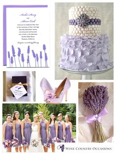 Lavender Inspiration Board by Wine Country Occasions