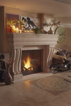 74 best cast stone fireplace mantels images fire places stone rh pinterest com