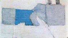 Nicolas de Staël, Composition en Gris et Bleu, 1950, oil on canvas