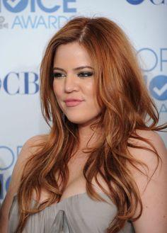 Khloe Kardashian  looked so amazing as a redhead!