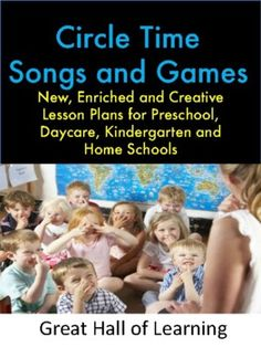 Circle Songs and Circle GamesOver 50 pages of new, enriched and creative lesson plans for preschool, kindergarten, daycares and home schools. Starting Circle: 10 Songs and rhymes to get children ready to start your circle.Good Morning Songs: 13 different songs and rhymes to sing good morning to the... Good Bye Songs, Fun Songs, Songs To Sing, Kindergarten Classroom Management, Kindergarten Science, Teacher Helper, Love Teacher, Greeting Song, Fun Fall Activities
