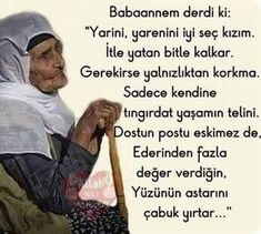 sözler ~Grandma used to say: . Allah Islam, Education Quotes, Meaningful Quotes, Cool Words, Sentences, Life Lessons, Favorite Quotes, Psychology, Literature