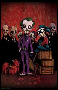 Nueva Joker y  Harley pieza (11x17 tinta sobre papel, coloreado con Photoshop)
