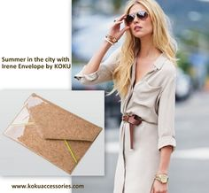 summer in the city? add the Irene Envelope to your outfits www.kokuaccessories.com