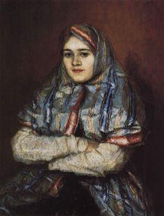 Vasily Surikov - Portrait of Alexandra Ivanovna Emelyanova, born Schrader 1902