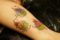 cupcake tattoos - Bing Images  so cute :)