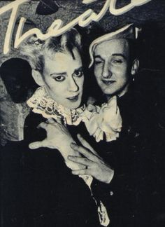 On the right: Milliner Stephen Jones - circa Blitz Club, London 80s