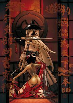 Okko by Hub Martial Arts Workout, Exotic Art, Metal Magazine, Samurai Warrior, Cartoon Movies, Film Music Books, Sci Fi Art, Comic Artist, Fantasy Art