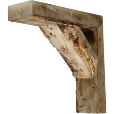 "Ekena Millwork Vintage Farmhouse Bracket Finish: Natural Barnwood, Size: 12"" H x 3.5"" W x 10"" D"