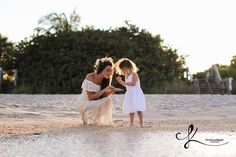 Mother daughter Picking seashells on the beach, family photoshoot - www.christinaklingler.com mommy and me