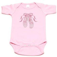 Pink Baby Boutique - Ballerina Slippers Baby Onesie, $26.00 (http://www.pinkbabyboutique.com/ballerina-slippers-baby-onesie/)