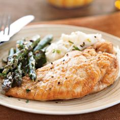 Chicken and Asparagus in White Wine Sauce - I love this recipe!