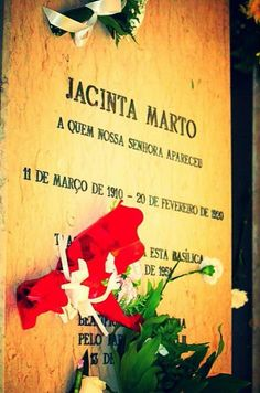 Grave of Blessed Jacinta Marto at Fatima