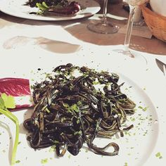 WEBSTA @ usitalianfood - A traditional sicilian pasta is spaghetti with squid ink. Yes you see right, it's black and delicious. Have you ever tried it? Yummy😋📷 by @cela.f#foodgasm #italianfood #sicilianfood #eatbetterlivebetter #food #instafood #foodie #recipe #pasta #holiday #instagood #nyc #likeusjourney #newyork #yummy #tasty #healthy #delicious #foodporn #wine #foodbox #sicily #inspiration #culture #black #fish #foodlover #spaghetti #italy #oliveoil