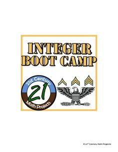 Integer Boot Camp -- Differentiated Integer Operation Prac