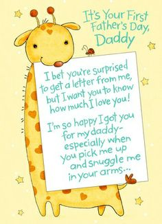Cardstore makes it easy to personalize and mail Father's Day cards like First Father's Day Giraffe card. Just add your own photos, text and a signature to a sweet Father's Day cards and we'll mail it for you! 1st Fathers Day Gifts, Easy Fathers Day Craft, Fathers Day Quotes, Daddy Gifts, Gifts For Dad, Diy Father's Day Gifts, Father's Day Diy, Craft Gifts, Daddy Day