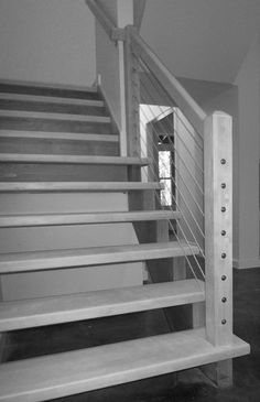 Our cable railing systems give your stairs a distinct modern touch. Expertly installed, they lend a unique beauty to your stairs. Cable Railing Systems, Interior And Exterior, Southern, Stairs, Modern, Ideas, Stairway, Trendy Tree, Staircases