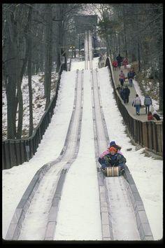 Tobagon slide, Pokagon State Park, Indiana