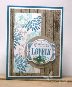 Make a stamped background with the Petal Parade stamp set.  Cindy Beach   stampspaperandink.typepad.com