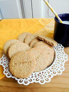 receta galletas digestive caseras - homemade digestive cookies recipe