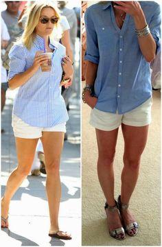 On the Daily E X P R E S S: Nothing New - some cute outifts, shows the Express Portofino shirt