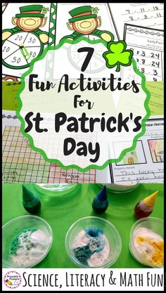 If you're looking for some fun and engaging St.Patrick's Day Activities for your class or kids, look no further! Math fact centers, to designing a leprechaun house, rainbow science and more... these 7 activities will keep your kids learning right through the excitement of the holiday! #firstgrade #secondgrade #leprechaunfun #stpatricksday