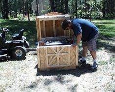 Generator Enclosure Generator Shed How to Build a Shed If you have ever been camping or in a rural area where generators are common you know how disturbing the loud sound a generator makes can be. Some 'tough guys' think it's OK and almost thrive.