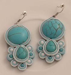 Spring breeze soutache earrings